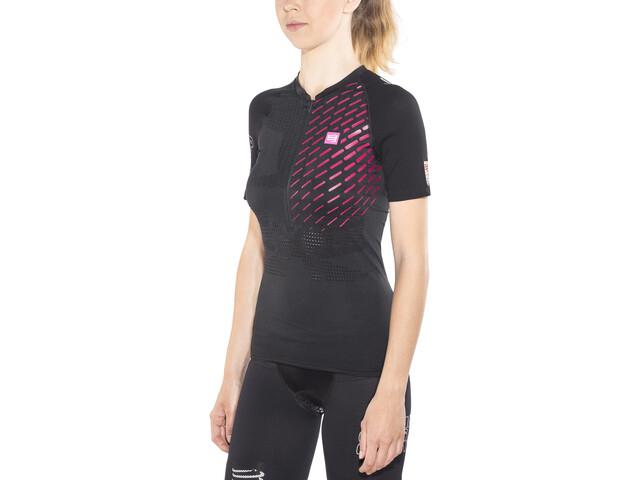 Compressport Trail Running Postural Koszulka do biegania z krótkim rękawem Kobiety czarny
